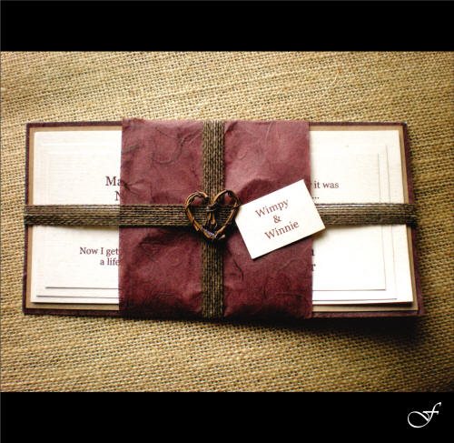 Wedding Invitations With Twine Ribbon By Fralenco