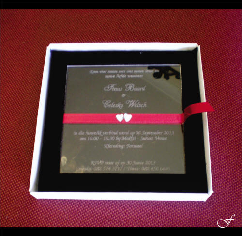 Wedding Invitations With Red Ribbon By Fralenco