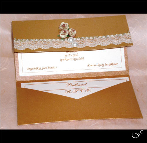 Wedding Invitations With White Lace Ribbon By Fralenco