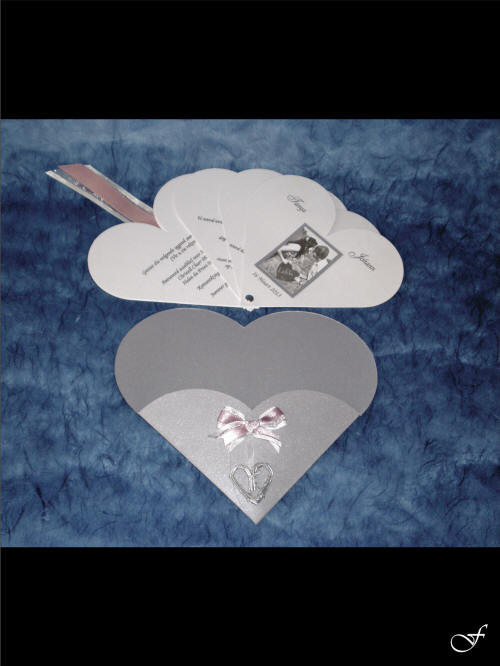 Shaped & Laser Cut Wedding Invitations with Heart Shaped Envelope by Fralenco