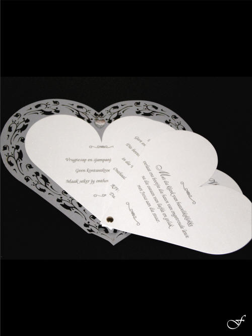 Shaped & Laser Cut Wedding Invitations by Fralenco