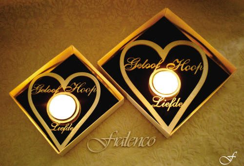 Tea Light Heart Shaped by Fralenco