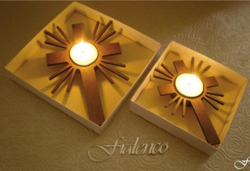 Tea Light Star and Cross - Fralenco