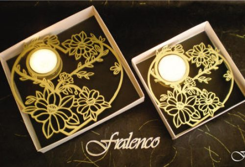 Heart Shaped Tea Lights - Daisy Flower by Fralenco