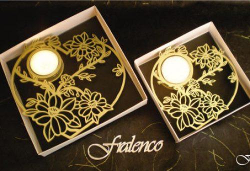 Heart Shaped Tea Lights - Daisy Flower by Fralenco
