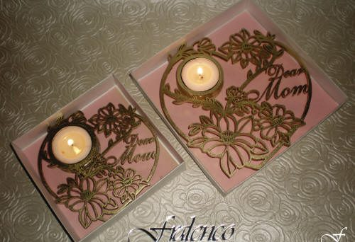 Heart Shaped Tea Lights - Dear Mom by Fralenco