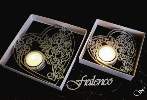 Heart Shaped Tea Lights - Roses by Fralenco